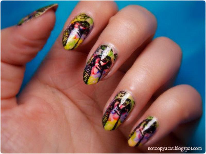 Macaws nail art by notcopyacat
