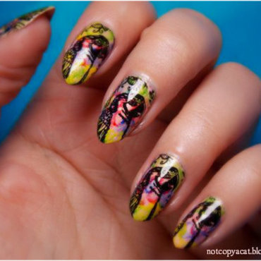 Macaws nail art by notcopyacat