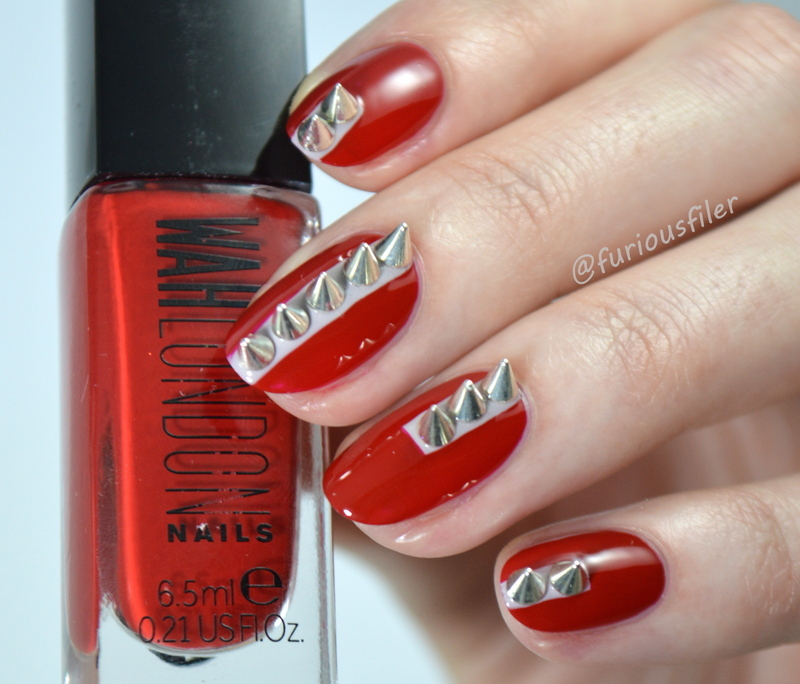 Spikes! nail art by Furious Filer