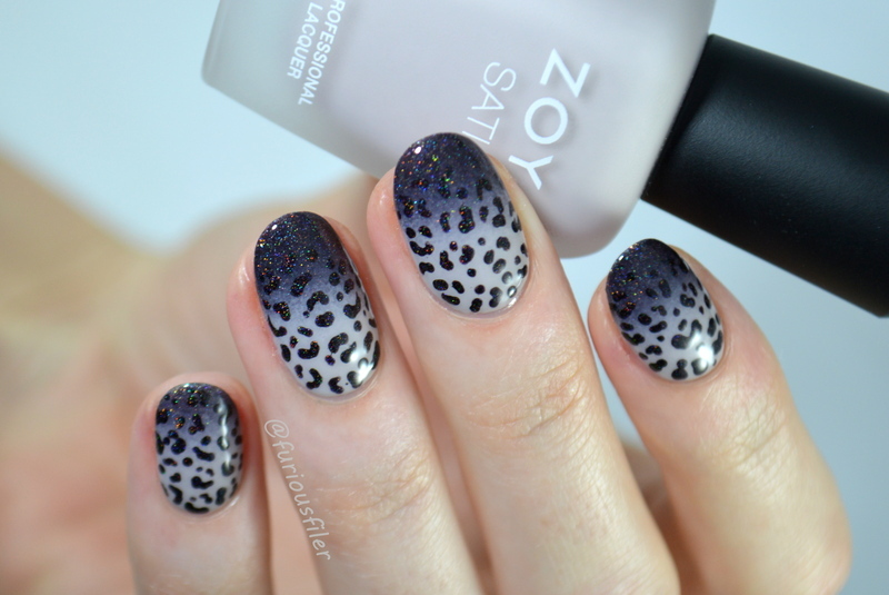 Fading Leopard Print nail art by Furious Filer