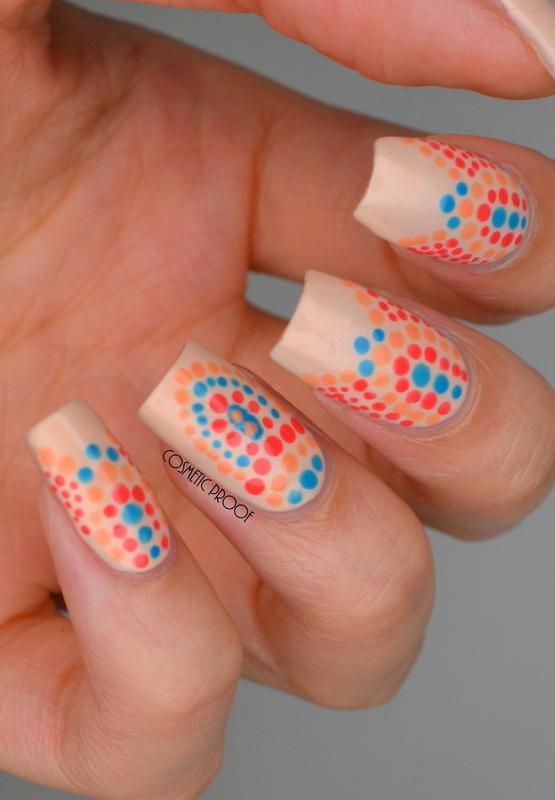 Tribal Dotticure nail art by Jayne
