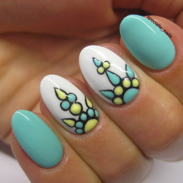 Mint&ornament nail art by specialle