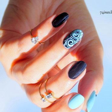 I wish it would rain down nail art by 74ines