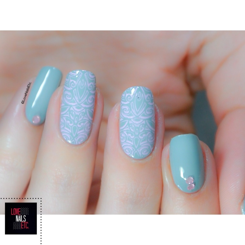 Sweet Chic nail art by Love Nails Etc