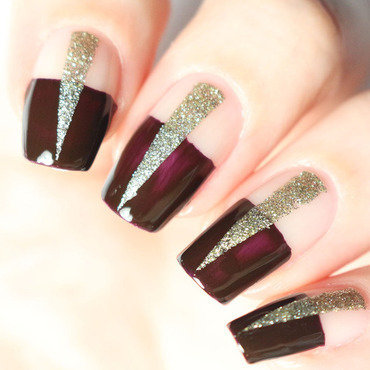 Negative space nail art nail art by Tribulons