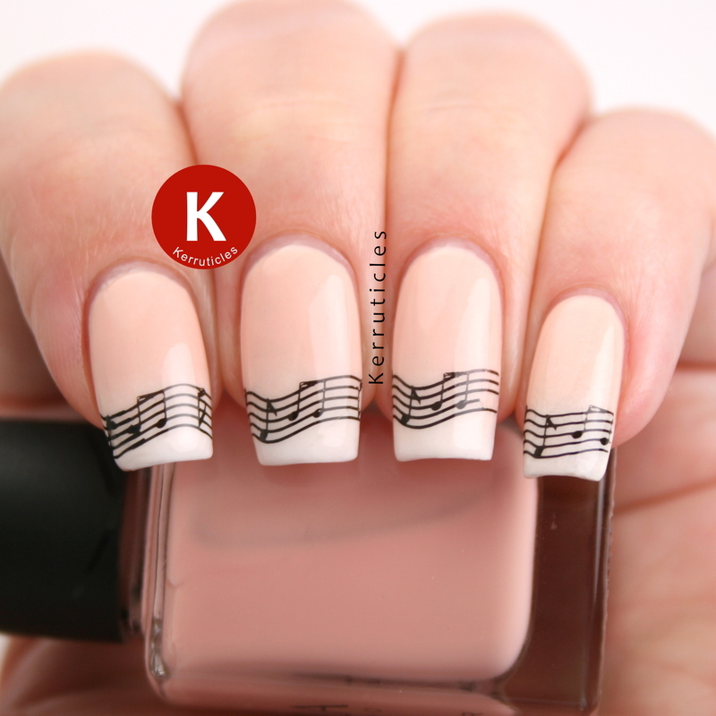 Baby boomer music nails nail art by Claire Kerr