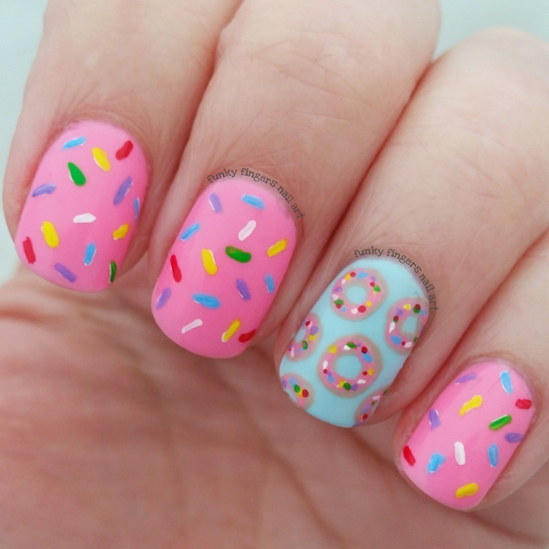 World donut day nail art by Funky fingers nail art