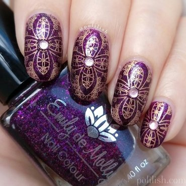 Ornate nail design nail art by polilish