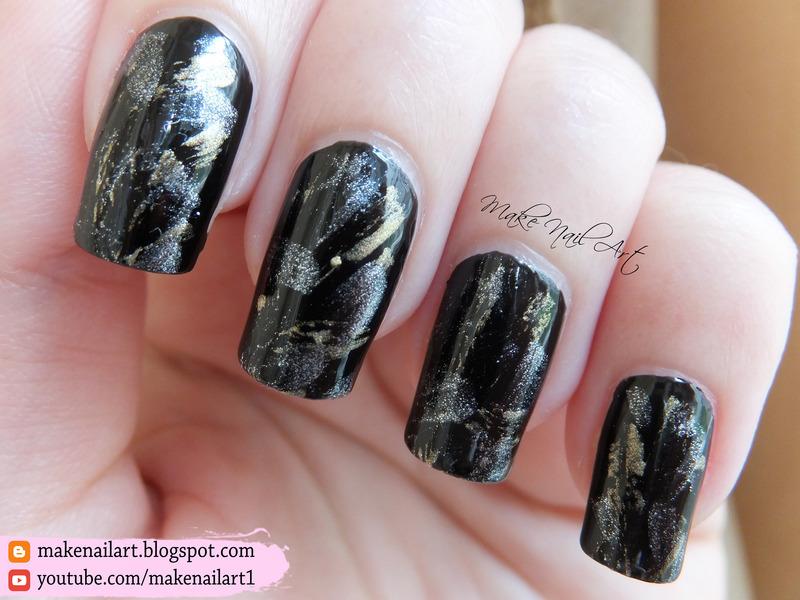 Black Gold And Silver Elegant Nail Art Design nail art by Make Nail Art
