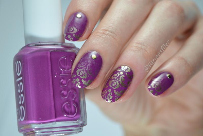 Elegant Gradient nail art by Furious Filer