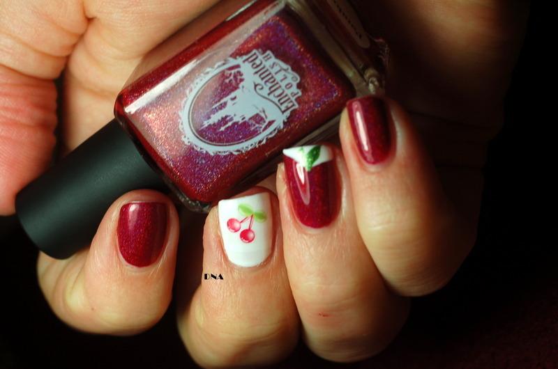 cherry mium nail art by Dorothy NailAssay