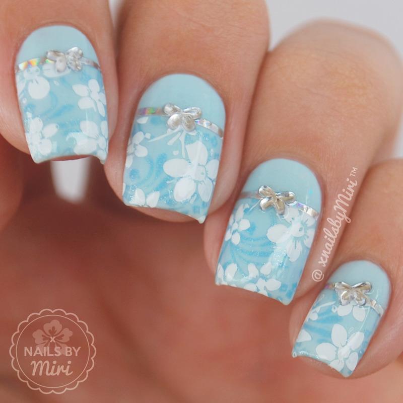 Cute Blue Nails nail art by xNailsByMiri