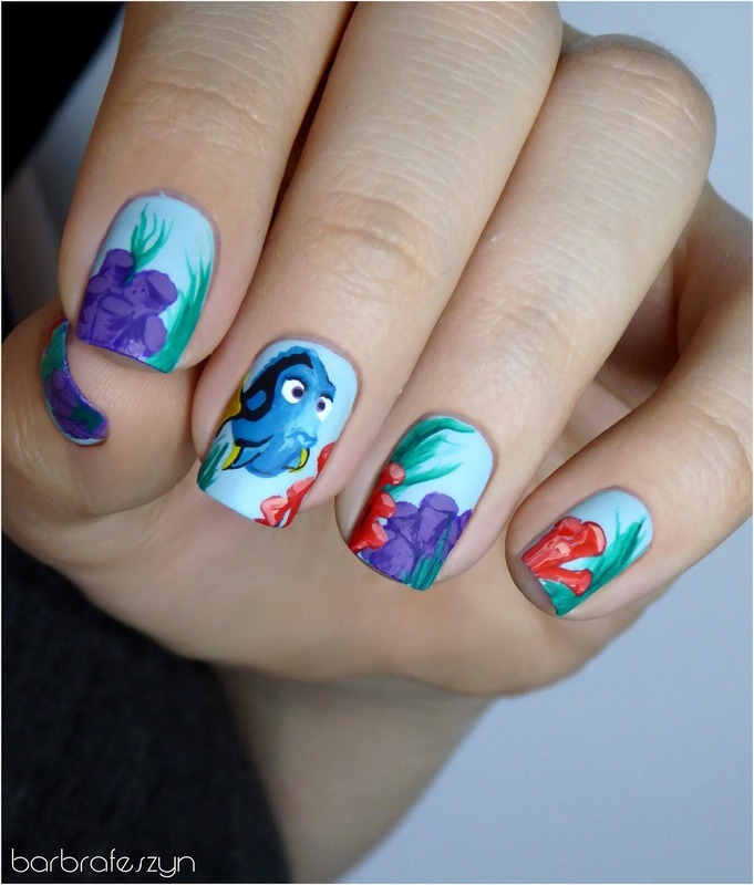 Freehand finding dory nail art by barbrafeszyn nailpolis freehand finding dory nail art by barbrafeszyn prinsesfo Gallery