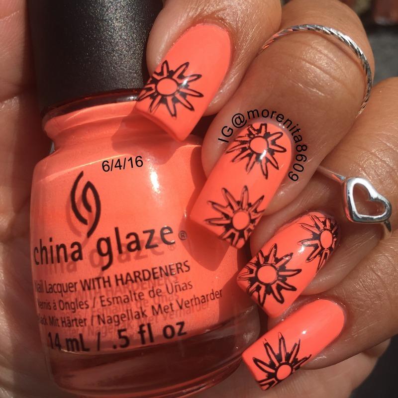 Summer Nails nail art by Morenita  Morena