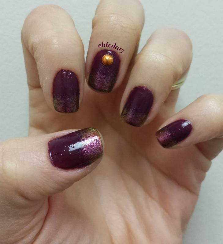 Golden Berry nail art by chleda15