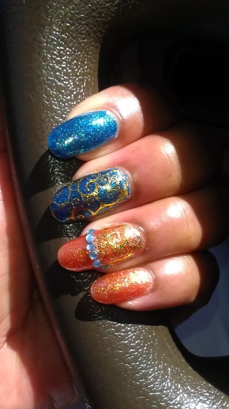 Tickled and Bubbly nail art by Jackie Bodick