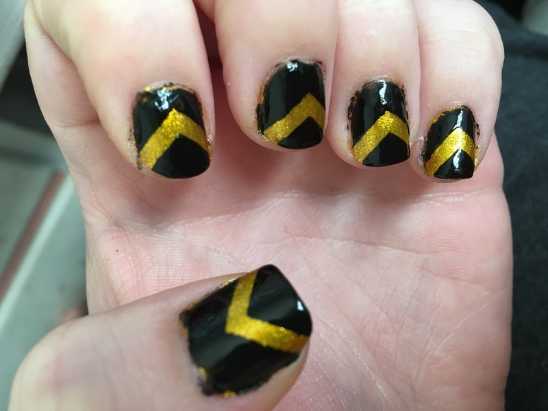 Black and yellow black and yellow nail art by Ilze