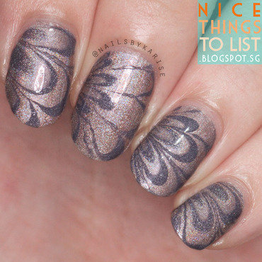 A england holo watermable nail art thumb370f