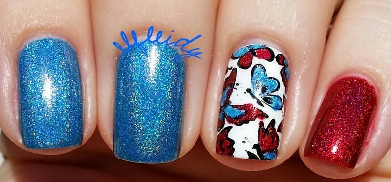 Memorial Day nails nail art by Jenette Maitland-Tomblin