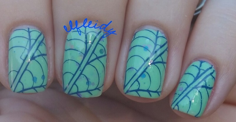 Insect wings nail art by Jenette Maitland-Tomblin