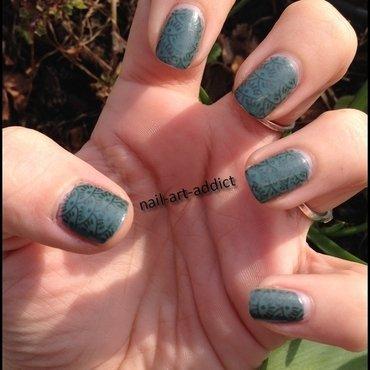Nail Art : Stamping Ecailles nail art by SowNails