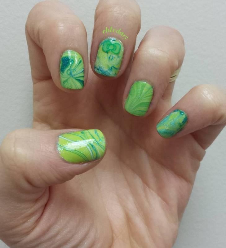 Sweet Green Algae nail art by chleda15