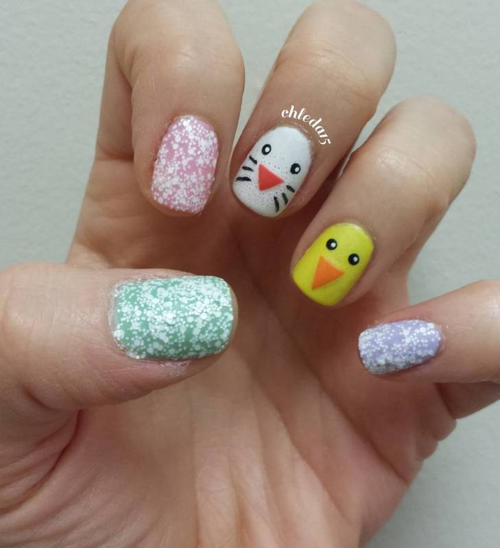 Easter Duo nail art by chleda15