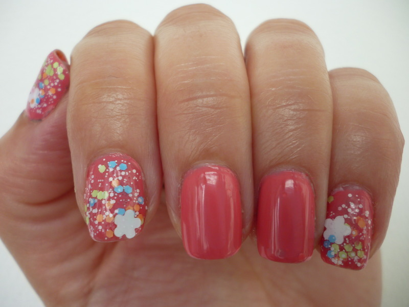 Flirty summer coral nail art by velinux