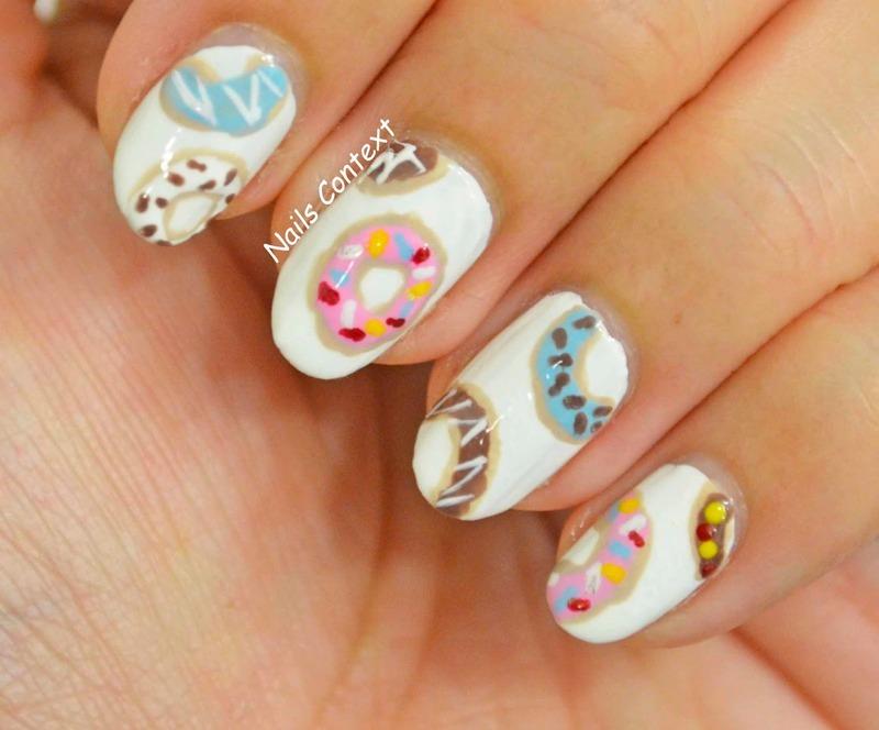 Donut Nails nail art by NailsContext