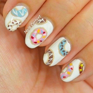 Donut Nails nail art by NailsContext