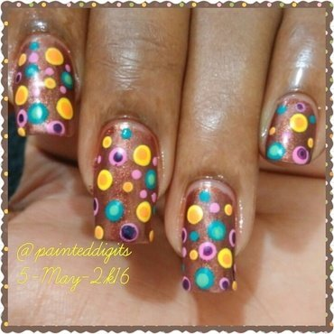 Double Dotticure nail art by Painted Digits