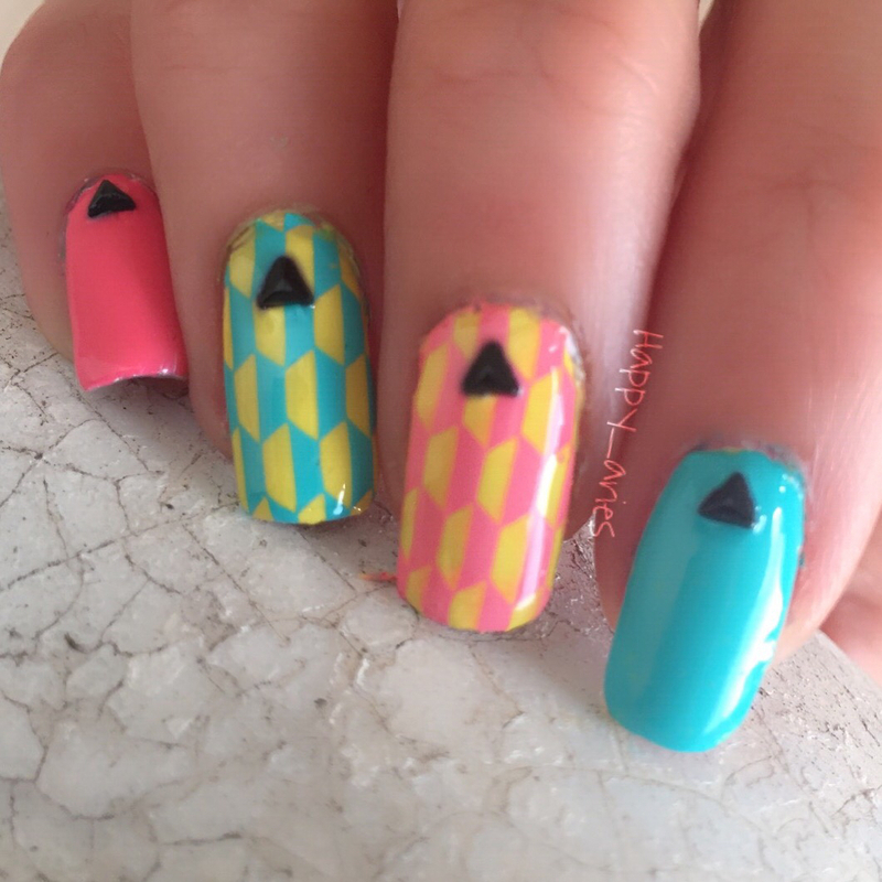 Neon  nail art by Happy_aries