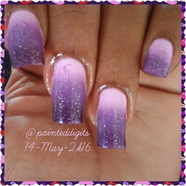 Purple Ombre nail art by Painted Digits