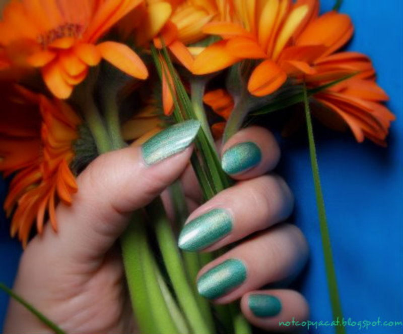 Colour Alike, Village V. swatch nail art by notcopyacat