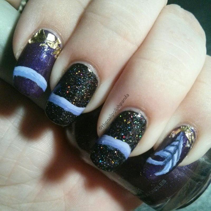 D20 Babes: Van Tyler nail art by Lynni V.