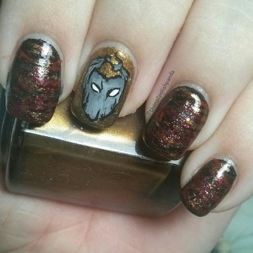 D20 Babes: Alyx Mara nail art by Lynni V.