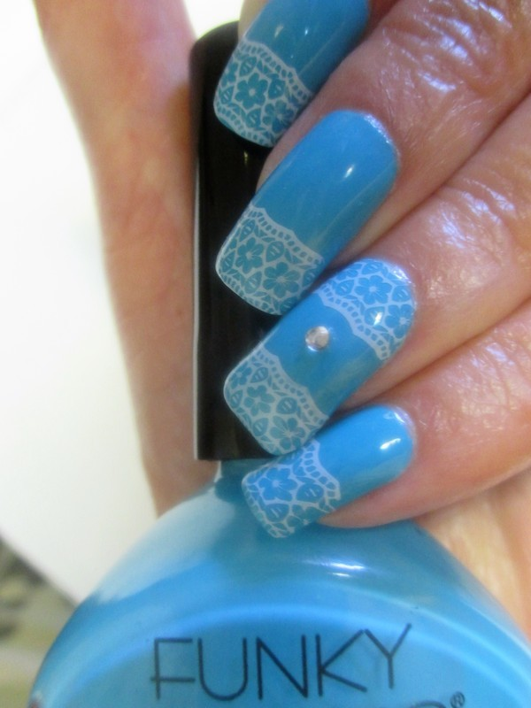 French Lace nail art by NinaB