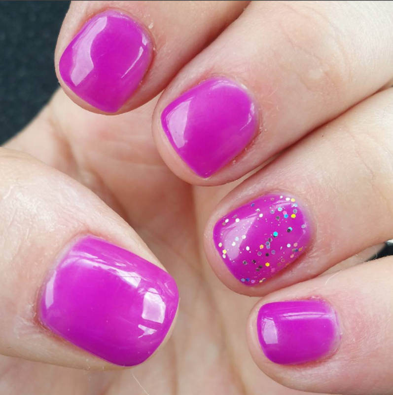 Pretty in Purple nail art by Kristen Lovett