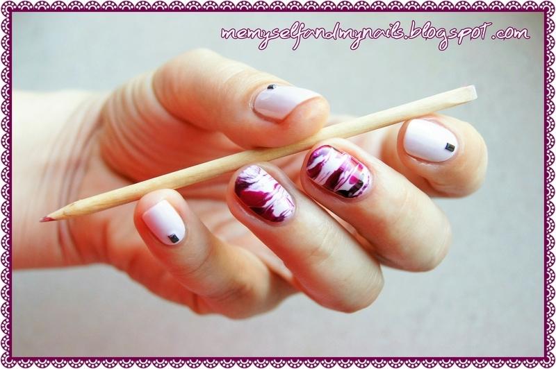 Agate nail art by ELIZA OK-W
