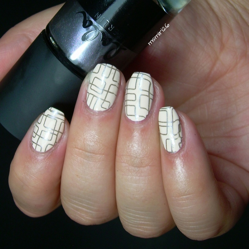 Geometric Stamping nail art by msmiri26