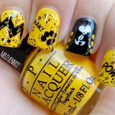 Snoopy Nail Art  nail art by madjennsy Nail Art