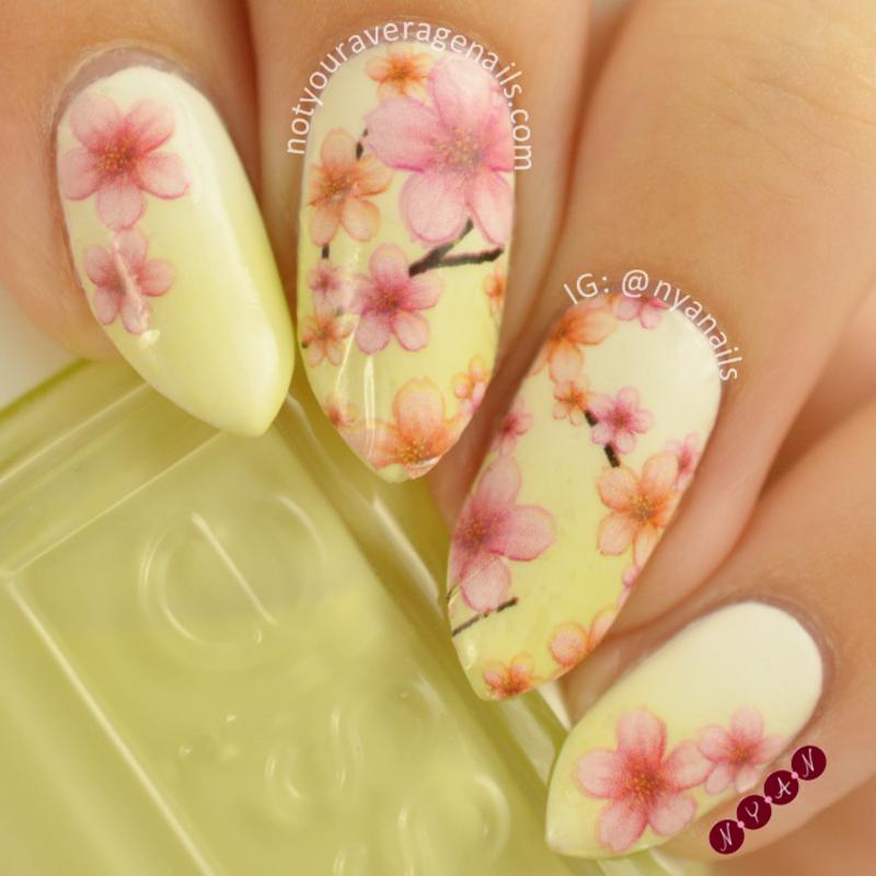 Sakura Blossoms nail art by Becca (nyanails)