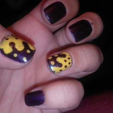 "Opo""spots"" attract  nail art by Teana Jones"