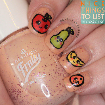 Cute Fruity Nails nail art by Karise Tan