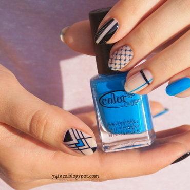 Pretending nail art by 74ines