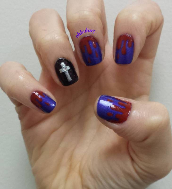 Castlevania nail art by chleda15