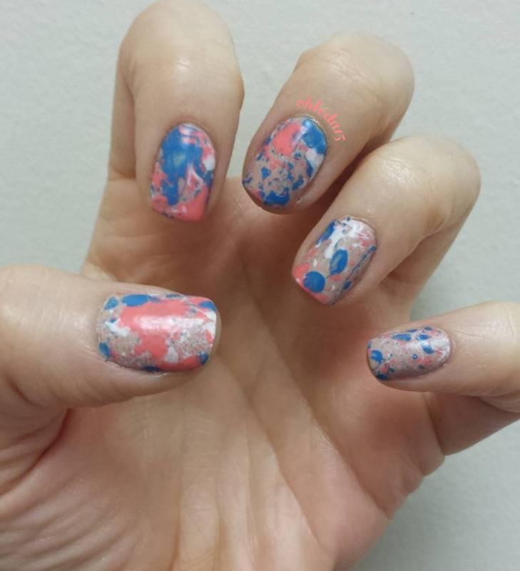 Paint Splatter Matte nail art by chleda15