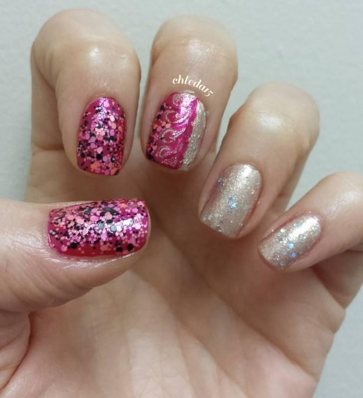 Swirled Together nail art by chleda15