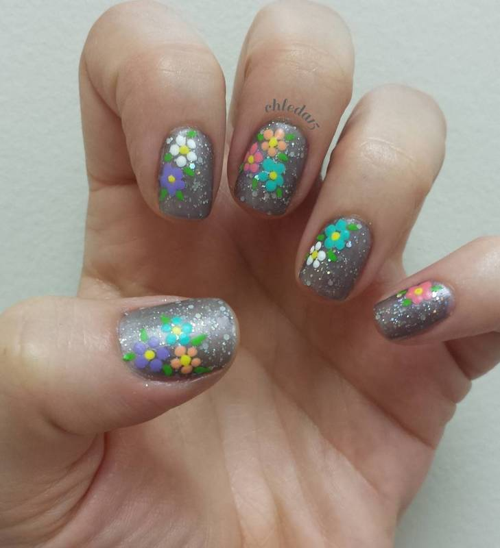 Flowerbeds nail art by chleda15