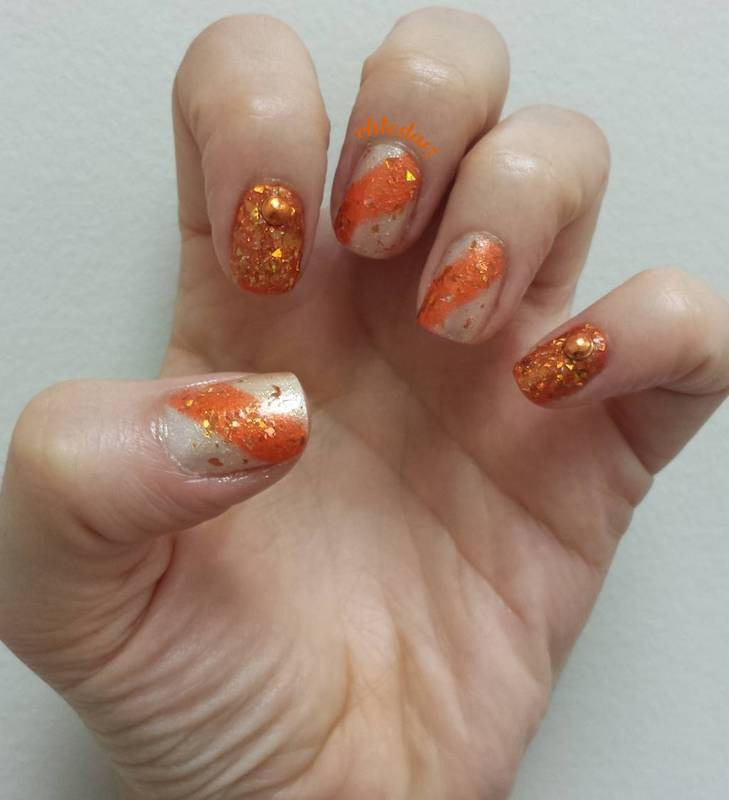 Don't Be Such a Flake nail art by chleda15